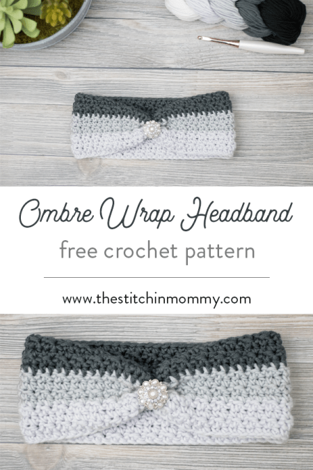 Ombre Wrap Headband - Free Crochet Pattern | www.thestitchinmommy.com