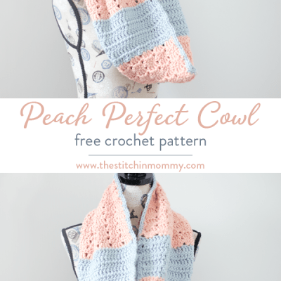 Peach Perfect Cowl – Free Crochet Pattern