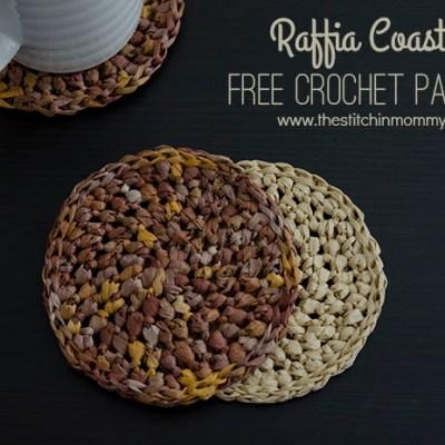 Raffia Coasters – Free Crochet Pattern