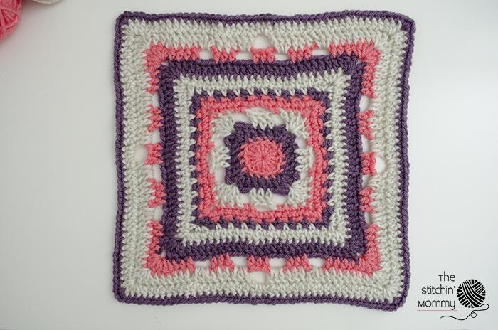 Rising Sun 12 Inch Afghan Square Free Crochet Pattern