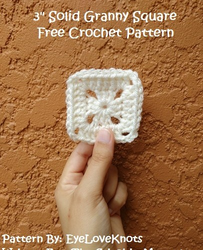 3 Inch Solid Granny Square – Free Crochet Pattern