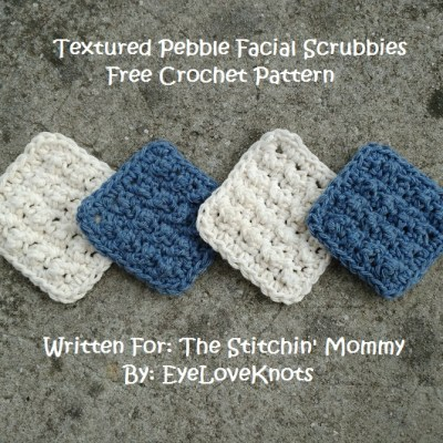 Textured Pebble Facial Scrubbies – Free Crochet Pattern