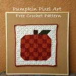 Pumpkin Pixel Art – Free Crochet Pattern