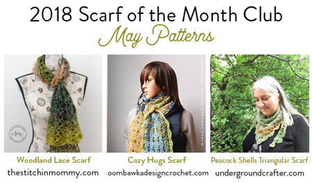 2018 Scarf of the Month Club hosted by The Stitchin' Mommy and Oombawka Design - May Scarf Patterns #ScarfoftheMonthClub2018 | www.thestitchinmommy.com