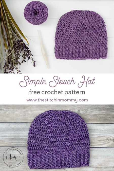 Simple Slouch Hat - Free Crochet Pattern | www.thestitchinmommy.com #CIJMakeAlong2020 #undergroundcrafter #thestitchinmommy