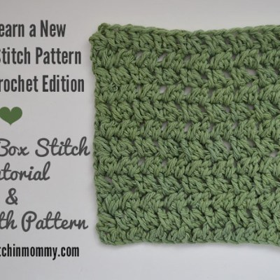 Spiked Box Stitch Tutorial and Dishcloth Pattern