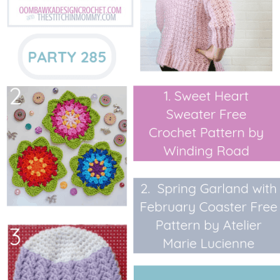 The Wednesday Link Party 285 featuring the Sweet Heart Sweater