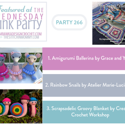 The Wednesday Link Party 266 featuring Amigurumi Ballerina