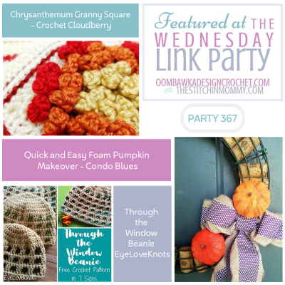 The Wednesday Link Party 367 featuring Chrysanthemum Granny Square