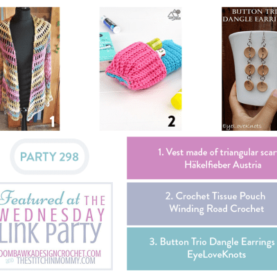 The Wednesday Link Party 298 featuring Triangular Scarf Vest
