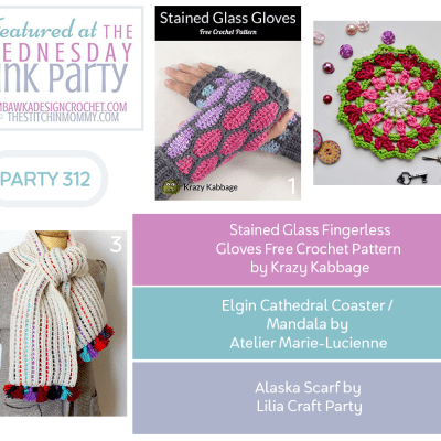The Wednesday Link Party 312 featuring Stained Glass Fingerless Gloves