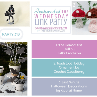 The Wednesday Link Party 318 featuring Toadstool Holiday Ornament