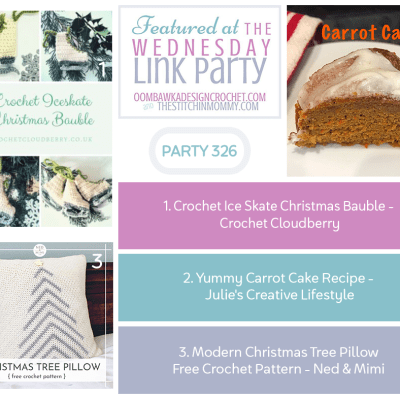 The Wednesday Link Party 326 featuring Crochet Ice Skate Christmas Bauble