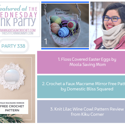 The Wednesday Link Party 338 featuring Floss Covered Easter Eggs