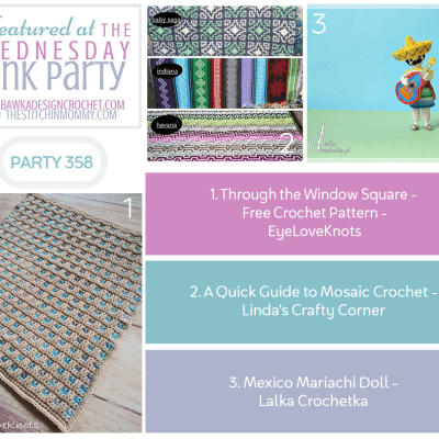 The Wednesday Link Party 358 featuring Through the Window Square