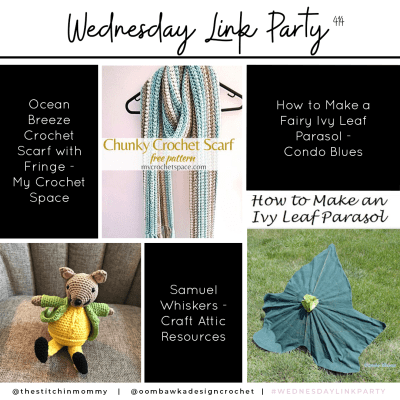 The Wednesday Link Party 414 featuring Ocean Breeze Crochet Scarf with Fringe