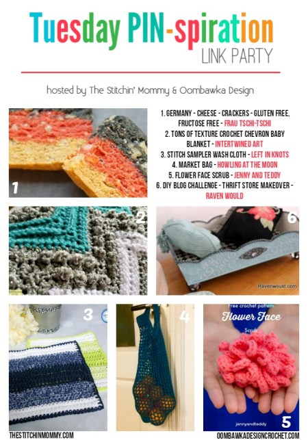 The NEW Tuesday PIN-spiration Link Party Week 38 (5/22/2017) - Rhondda and Amy's Favorite Projects | www.thestitchinmommy.com