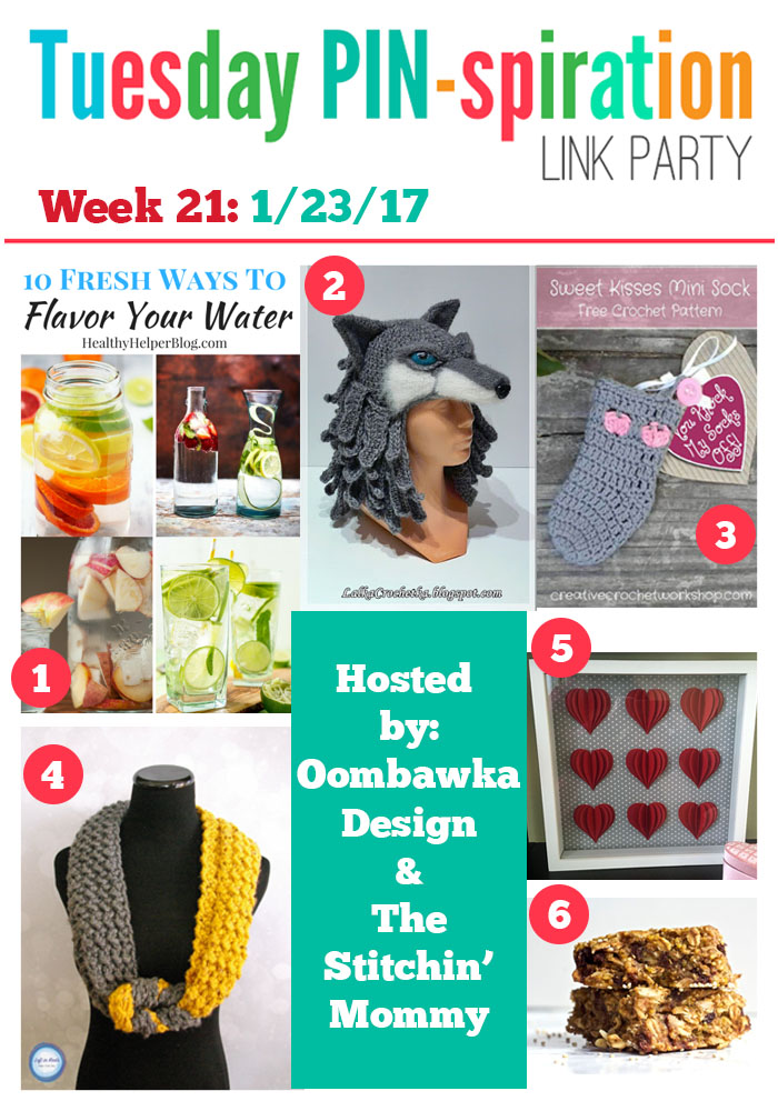 The NEW Tuesday PIN-spiration Link Party Week 21 (1/23/2017) - Rhondda and Amy's Favorite Projects | www.thestitchinmommy.com