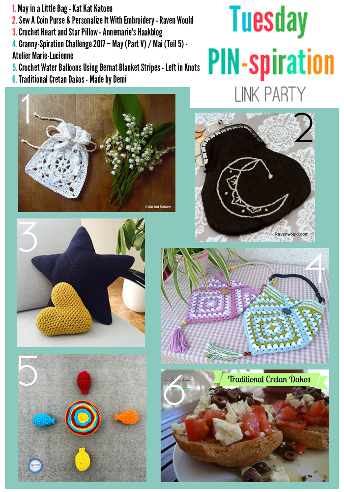 The NEW Tuesday PIN-spiration Link Party Week 37 (5/15/2017) - Rhondda and Amy's Favorite Projects | www.thestitchinmommy.com