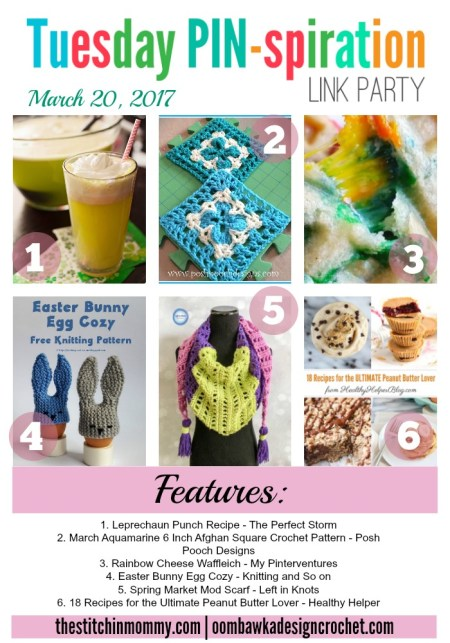The NEW Tuesday PIN-spiration Link Party Week 29 (3/20/2017) - Rhondda and Amy's Favorite Projects | www.thestitchinmommy.com