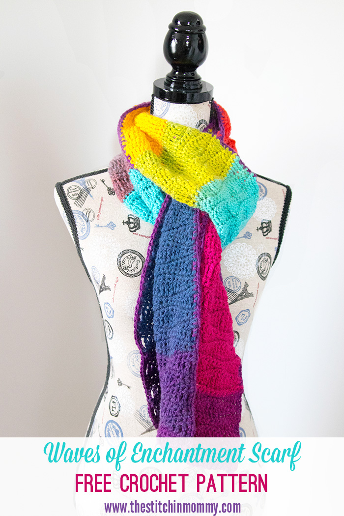Waves of Enchantment Scarf - Free Crochet Pattern - Scarf of the Month Club hosted by The Stitchin' Mommy and Oombawka Design | www.thestitchinmommy.com #ScarfoftheMonthClub2017