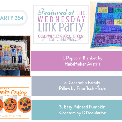 The Wednesday Link Party 264 featuring a Popcorn Blanket