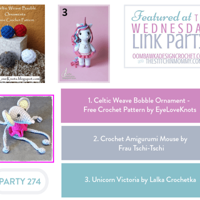 The Wednesday Link Party 274 featuring Celtic Weave Bobble Ornament