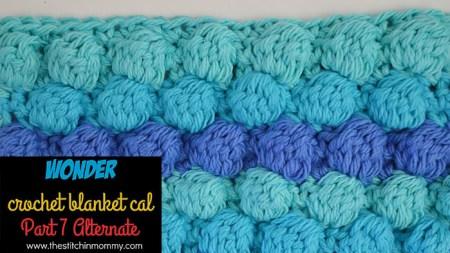 Wonder Crochet Blanket CAL Part 7 Alternate | www.thestitchinmommy.com