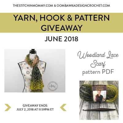 Monthly Yarn, Hook and Pattern Giveaway – June 2018
