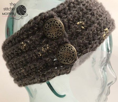 Exquisitely Yours Winter Headband - Free Crochet Pattern #12daysChristmasCAL | www.thestitchinmommy.com