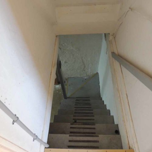 first flip basement stairs
