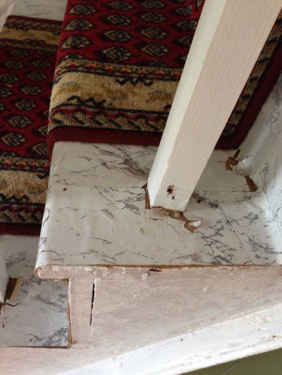 faux marble stairs