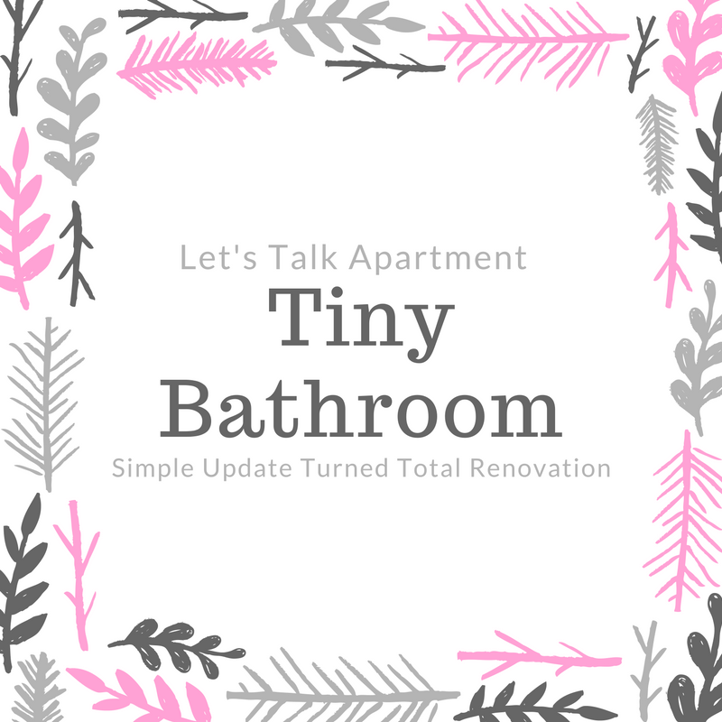 "Lets Talk Apartment Bathroom :: ""See, what happened was…"""