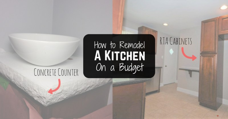 How to remodel a kitchen a on a budget! Check out the 4 DIY projects you need to try in order to save money on your next kitchen remodel!