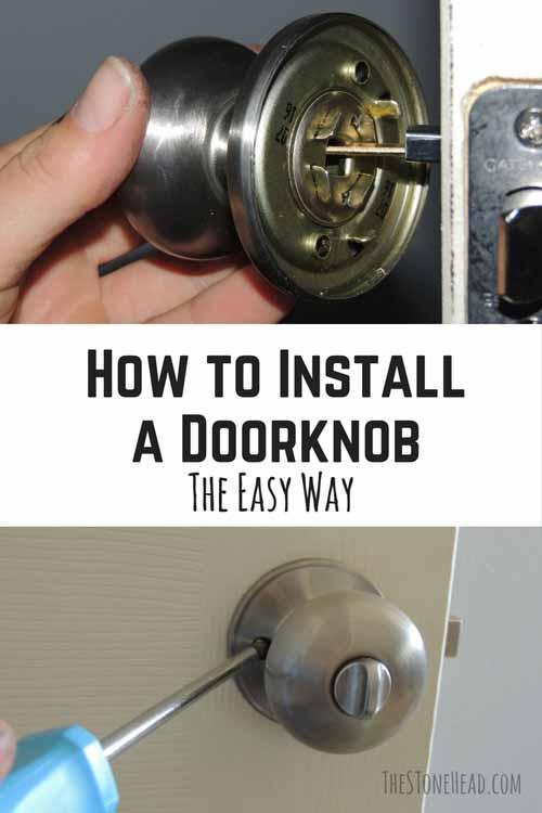 install a door knob