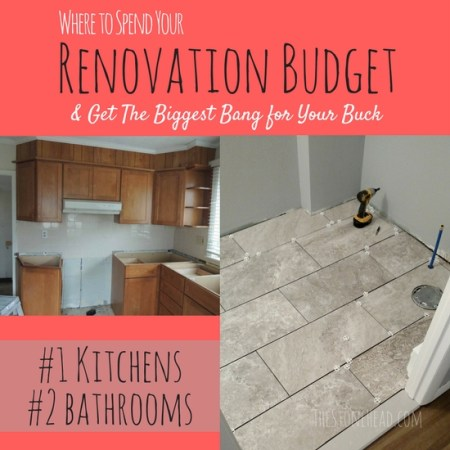 where to spend money on renovations
