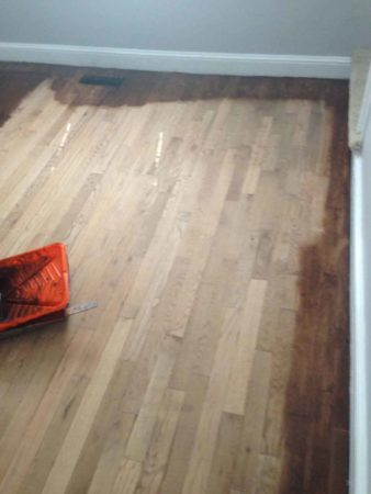 how to refinish hardwood floors by edging first