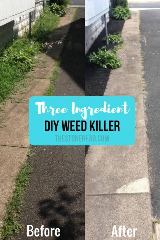 diy weed killer only three ingredients