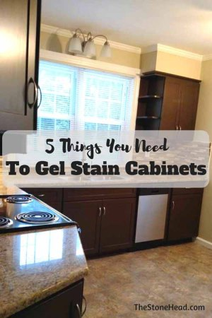 5 things you need to gel stain cabinets