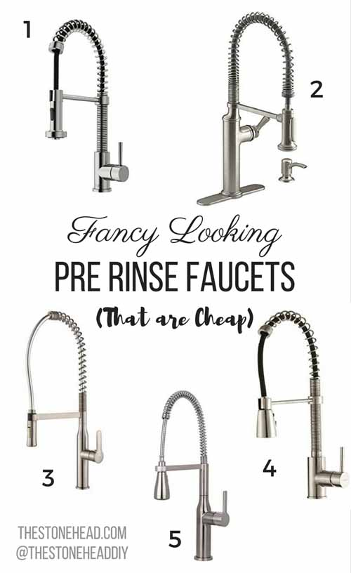Pre Rinse Kitchen Faucet More Decisions The Stone Head