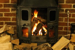 The stone horse fireplace