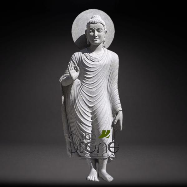 Sand Stone Standing Buddha Statue