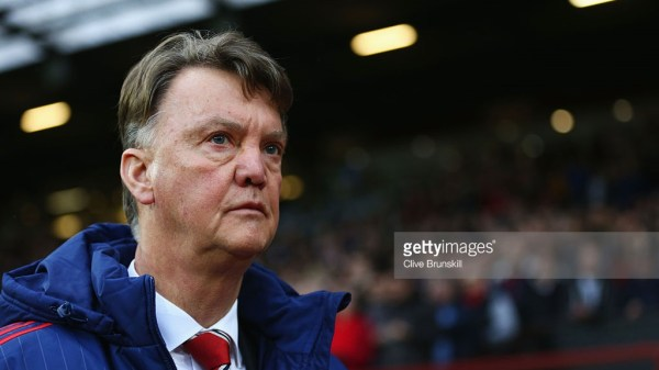 Louis van Gaal Manager of Manchester United looks on prior to the Barclays Premier League match between Manchester United and Swansea City at Old Trafford on January 2, 2016 in Manchester, England.