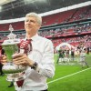 LONDON, ENGLAND - MAY 27: Arsene Wenger, Manager of Arsenal celebrates with The FA Cup after the Emirates FA Cup Final between Arsenal and Chelsea at Wembley Stadium on May 27, 2017 in London, England. (Photo by Michael Regan - The FA/The FA via Getty Images)