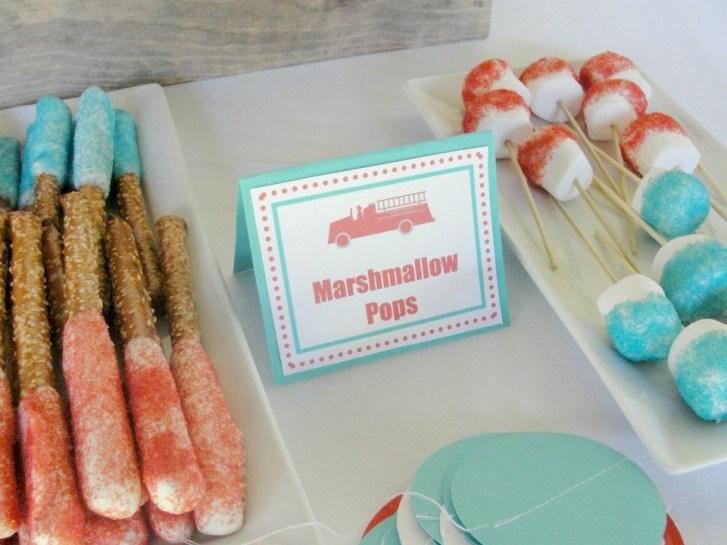 Fireman Birthday Party Desserts