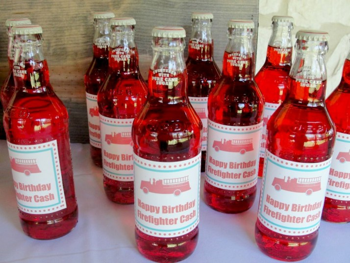 Fireman Birthday Party Drinks