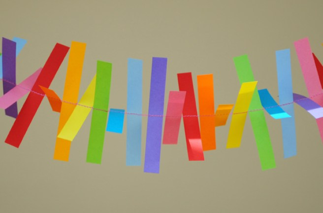 Adorable colorful paper garland