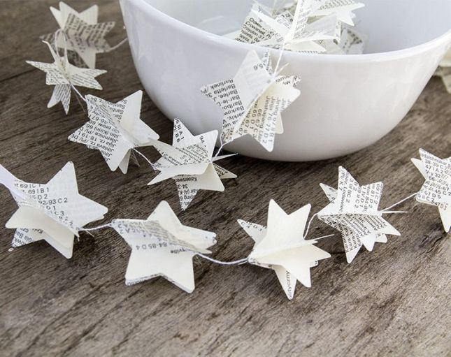 Beautiful paper garland for weddings.