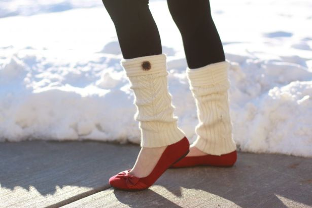 leg warmers with flats