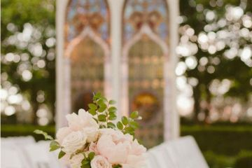 Flowers aisle wedding